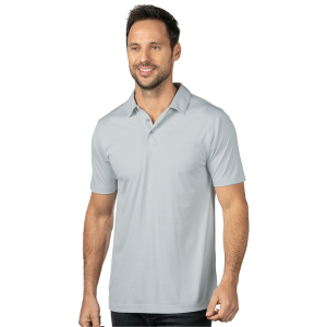 Silas Men's Micro Striped Performance Polo
